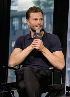 Actor Jamie Dornan attends AOL Build Presents Sean Ellis, Jamie Dornan and Cillian Murphy, 'Anthropoid' at AOL HQ on August 5, 2016 in New York City.