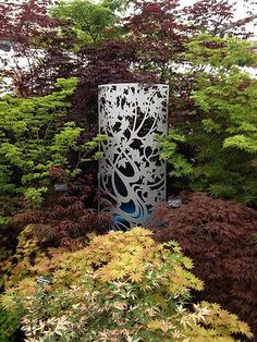 Chelsea Flower Show 2016. Laser cut screen, Maple design by Miles and Lincoln. www.milesandlincoln.com