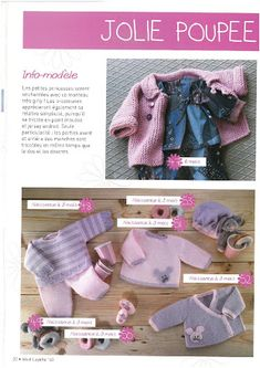 Foto: Crochet Baby, Knit Crochet, Point Mousse, Girly, Crochet Magazine, Couture, Baby Knitting Patterns, Needlework, Archive