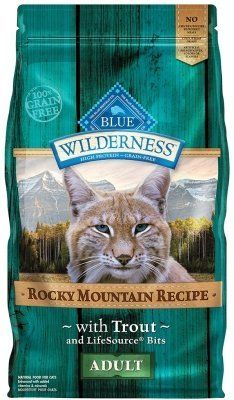 "WILDERNESS ROCKY MOUNTAIN TROUT CAT 4LB ""Ctg: OTHER PET FOODS - BLUE BUFFALO CAT DRY"""