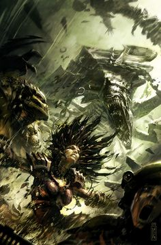 Alien vs. Predator: Three World War - Raymond Swanland