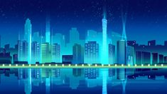 The Scrapbook Collection Night Illustration, Building Illustration, Background Templates, Background Images, Blue Building, City Vector, Technology Background, Vector Free Download, Night City