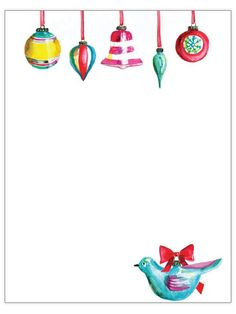 Vintage Ornaments Christmas Letter