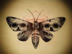 Image result for death moth tattoo