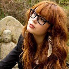 ჭ haircut, bangs, love her glasses