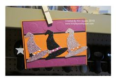 Halloween Stampin Up card from the Boo to You Framelits. Witches har