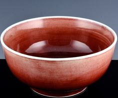 EXTREMELY RARE c1700 CHINESE KANGXI LANGYAO RED FLAMBE GLAZE LARGE BOWL VERMEER1 Large Bowl, Moscow Mule Mugs, Glaze, Porcelain, Chinese, Pottery, Antiques, Tableware, Red