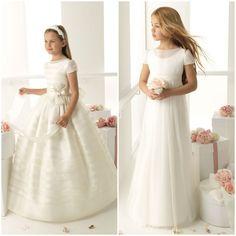 ROSA CLARÁ, una de las firmas de novias más conocidas, también tiene una línea de vestidos de comunión.