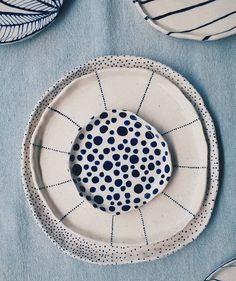 from - - Pottery Ceramic Geschirr Töpfern Ceramics Dishes Home Crafts table wear - Plates Ceramic Clay, Ceramic Plates, Ceramic Pottery, Ceramic Fish, Slab Pottery, Ceramic Decor, Pottery Vase, Porcelain Ceramics, Pottery Painting