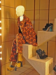Beautiful Window Displays!  - we sell seated mannequins at MannequinMadness.com so you can re-create this scene