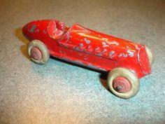Vtg Lead Slush Cast Barclay Manoil 1920s 1930s Toy Red Race Car