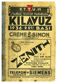 1936 İSTANBUL TELEFON REHBERİ by Erecep, via Flickr