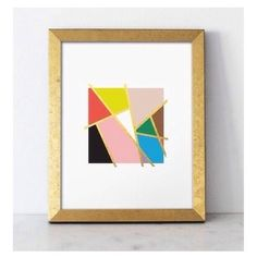 Bold geometric print. - Artist Unknown