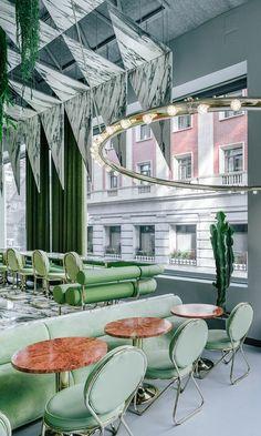restaurant Madrid Romola Andrés Jaque designboom chaises et tables