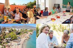 Duas semanas na Espanha para estudar espanhol e participar de uma  programação intensa de atividades que inclui paella, vinho e muita  diversão: apenas para maiores de 50 anos! Paella, Photo Wall, Frame, Study Spanish, Travel Tourism, February, Spain, Wine, Activities