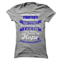 Support Juvenile Arthritis T Shirts, Hoodies, Sweatshirts - #funny tshirts #zip hoodie. CHECK PRICE => https://www.sunfrog.com/LifeStyle/Support--Juvenile-Arthritis-2623-SportsGrey-57786328-Ladies.html?60505