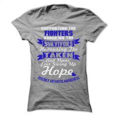Support Juvenile Arthritis T Shirts, Hoodies, Sweatshirts - #funny tshirts #zip hoodie. CHECK PRICE => https://www.sunfrog.com/LifeStyle/Support--Juvenile-Arthritis-2623-SportsGrey-57786328-Ladies.html?60505