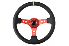 NRG - Sport Steering Wheel (3 Deep) - Red w/ yellow center mark [ST-006RD-Y] - $119.99 : JDMFreshParts, JDM Performance Car Parts and Accessories