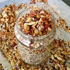 If your breakfast muesli has become ho-hum, try this instead, or just sprinkle it on top to make your normal muesli more interesting. :)