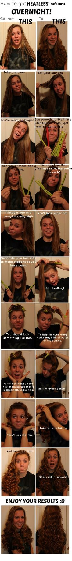 I actually have the conair things!! Curls Without Heat, Curls No Heat,
