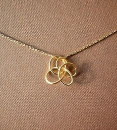 Petite Twist Necklace - Brass | An 18 gauge brass wire hand crafted into a small, unique, twis... | Necklaces