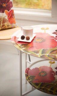 Röd Vallmo - Brickbord & textil  Marita Flodin Design