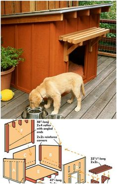 Doggie Ranch - 15 Brilliant DIY Dog Houses With Free Plans For Your Furry Companion (Rabbit Houses Plans) Pallet Dog House, Dog House Plans, Wood Dog House, Large Dog House, Pet Dogs, Pets, Chihuahua Dogs, Puppies, Dog Runs