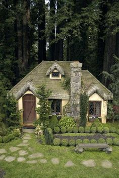 This English Cottage Playhouse looks like it came right out of a fairytale!