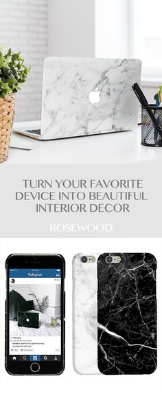 Marble Macbook Skins IPhone Cases By Rosewood