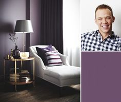 Design editor Joel Bray loves this dramatic shade of plum in bedrooms and living rooms. Paint one accent wall or all four walls in a room with plenty of natural light.