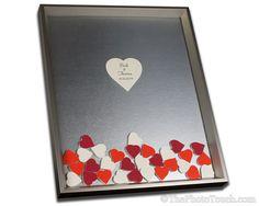 Unique Wedding Guest Book with Color Drop in by WeddingGuestbook
