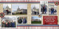 Washington DC scrapbook page. Kind of like the colors.