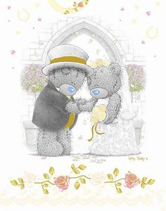 ♥ Tatty Teddy ♥ Teddy Images, Teddy Bear Pictures, Cute Images, Cute Pictures, Tatty Teddy, Valentines Day Images Free, Bear Wedding, Blue Nose Friends, Bear Illustration