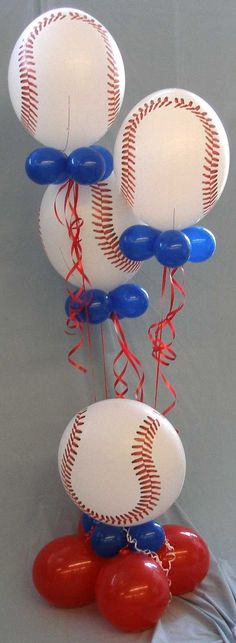 62 Ideas Baby Shower Ideas For Boys Baseball Sports Birthday For 2019 Birthday Balloon Decorations, Baby Shower Decorations For Boys, Birthday Balloons, Baby Shower Themes, Baby Boy Shower, Shower Ideas, Baby Shower Baseball, Party Ballons, Parties Decorations