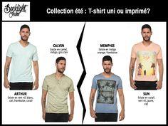 T-shirt uni ou imprimé?
