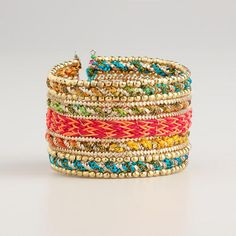 Multicolor Cuff Bracelet at Cost Plus World Market >> #WorldMarket Fashion, Jewelry, Watches, Arm Candy