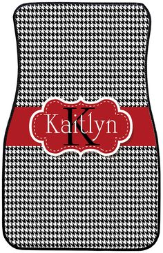 Calling all Bama fans.  You will love these personalized houndstooth car mats.  www.mindymeyer.etsy.com