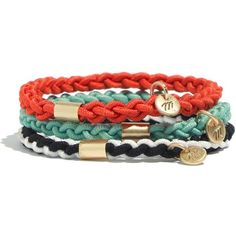 MADEWELL Braided Hair Bands (14 CAD) ❤ liked on Polyvore featuring bracelets, jewelry, accessories, bijoux, hair accessories and true black
