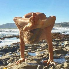 """From @lizcrosbyyoga -  Strategically placed head """"That's-what-she-said"""" Jokes are abounding in yoga It is cosmic sex with the universe  Moving and loving the body  Had kundalini erectile dysfunction But now it's flowing up erect  Vibrating with everything  Feeling it all more and more Deepak claims Trump is caught in root chakra Loving the Self double overtime We can shift the paradigm  Get your head in the game All thoughts to crown Clear all the distortions in between  And everyone becomes…"""