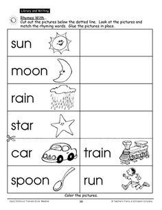 Help your child learn to read with this rhyme-based printable activity page. Lead. Read. Write. That's right!