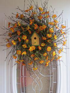 Spring Wreath Country Wreath Summer Wreath by DoorWreathsByDesign