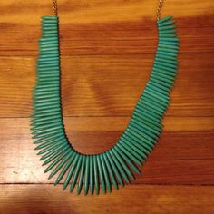 Kenneth Jay Lane Turquoise Spike Necklace Beautiful long necklace with terquoise spikes Kenneth Jay Lane Jewelry Necklaces