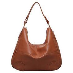 Hynes Victory Pebble Grain Large Hobo Shoulder Bag (Brown) - http://leather-handbags-shop.com/hynes-victory-pebble-grain-large-hobo-shoulder-bag-brown/