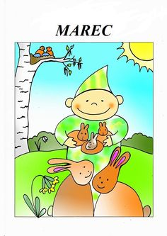Marec Seasons Of The Year, Four Seasons, Weather For Kids, Weather Seasons, Bambi, Pikachu, Education, Comics, School