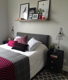 Inexpensive Home Decorating Ideas Cute Bedroom Decor, Bedroom Wall Designs, Small Room Bedroom, Girls Bedroom, Pinterest Room Decor, Cool Teen Bedrooms, Home Room Design, Cozy Room, Fashion Room