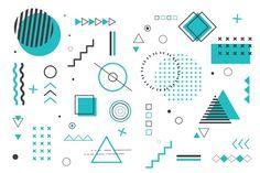 Fondo de formas geométricas en diseño pl...   Free Vector #Freepik #freevector #fondo Graphic Design Posters, Graphic Design Typography, Graphic Design Illustration, Geometric Shapes Art, Geometric Background, Banner Design Inspiration, Design Plano, Typography Logo, Lettering