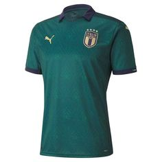 PRODUCT STORYSport your Italia pride with this true replica of the team's third jersey. This jersey is designed for the true fan, with dryCELL technology so you can look and play like your favorite players. Adidas Real Madrid, Italy Soccer, Madrid Football, Jersey Shirt, T Shirt, Soccer Gear, Puma Shirts, International Clothing, Football Jerseys