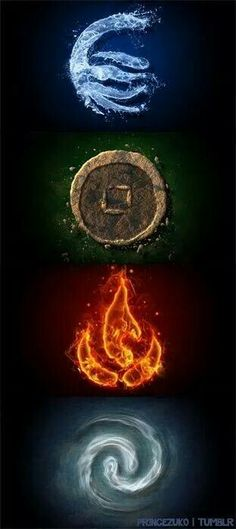 Water, Earth, Fire, Air The four elements, the four nations. Avatar the Last Airbender: The Legend of Aang Avatar Aang, Team Avatar, Avatar The Last Airbender, Fantasy Kunst, Fantasy Art, Wiccan, Magick, Element Tattoo, 4 Elements