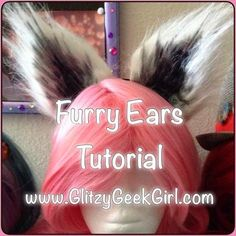 Tutorial: Furry Ears (GLITZY GEEK GIRL) After watching the incredible Commander Holly make a Rocket Raccoon cosplay for SDCC, I was inspired to make some raccoon ears myself! I figured this would be fun to wear to the premiere of the Guardi Cosplay Tutorial, Cosplay Diy, Cosplay Outfits, Cosplay Ideas, 2017 Cosplay, Cosplay Armor, Cosplay Makeup, Raccoon Makeup, Rocket Raccoon Costume