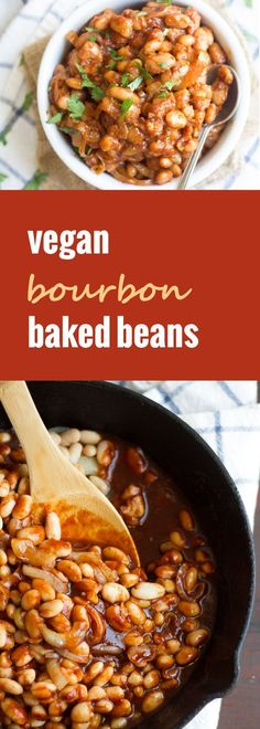 Caramelized onions, blackstrap molasses and a touch of bourbon make these the best, knock-your-socks-off vegan baked beans on earth.